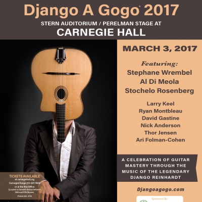 DJANGO A GOGO MUSIC FESTIVAL CELEBRATES 10TH ANNIVERSARY WITH HISTORIC CARNEGIE HALL SHOW MARCH 3rd