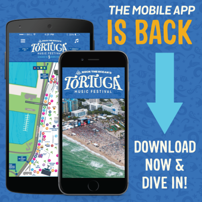 Tortuga Music Festival Releases 2017 Schedule, Map, Emojis And Tunes Exclusively on Mobile App