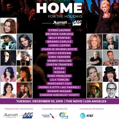 Cyndi Lauper Reveals Line-Up For Ninth Annual Home For The Holidays Benefit Concert On December 10th