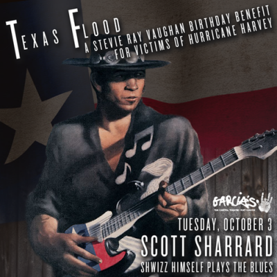 Garcia's at The Capitol Theatre Announces 'Texas Flood: A Stevie Ray Vaughan Birthday Benefit'