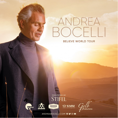 Andrea Bocelli to Perform with Top Orchestras in the U.S. On Believe North American 2021 Tour