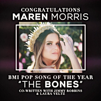 """The Bones"" Wins Song Of The Year At 2021 BMI Pop Awards"