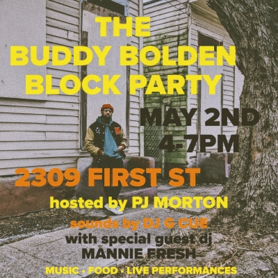 PJ Morton Hosts The Buddy Bolden Block Party, Kicking Off Initiative to Restore New Orleans Home of Jazz's Forgotten Father
