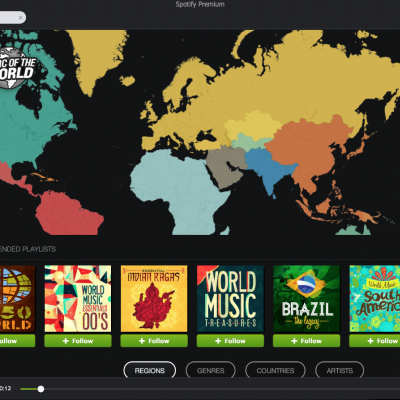 X5 navigate music of the world with interactive map in x5s x5 navigate music of the world with interactive map in x5s newest spotify app gumiabroncs Gallery