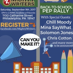 Mighty Writers Announces Back-To-School Pep Rally, September 9